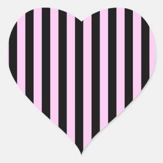 Stripes Parallel Lines - Pink Black Sticker