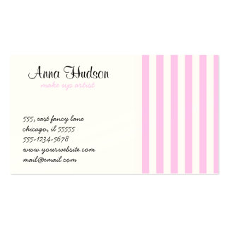 Stripes (Parallel Lines) - Pink White Business Card Template