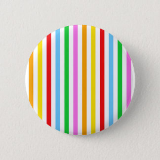 Stripes (Parallel Lines) - Red Blue Green Pink Button