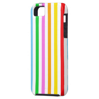Stripes (Parallel Lines) - Red Blue Green Pink iPhone SE/5/5s Case