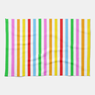 Stripes Parallel Lines - Red Blue Green Pink Kitchen Towels