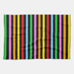 Stripes (Parallel Lines) - Red Blue Green Pink Kitchen Towel
