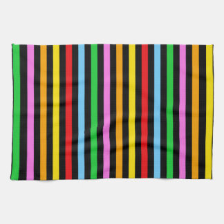 Stripes Parallel Lines - Red Blue Green Pink Kitchen Towel