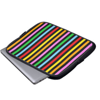 Stripes Parallel Lines - Red Blue Green Pink Computer Sleeve