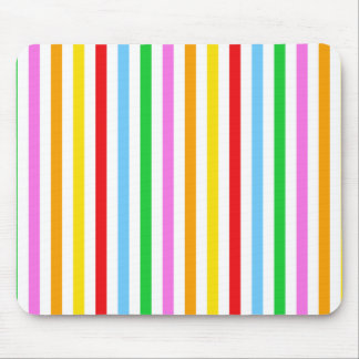 Stripes (Parallel Lines) - Red Blue Green Pink Mouse Pad
