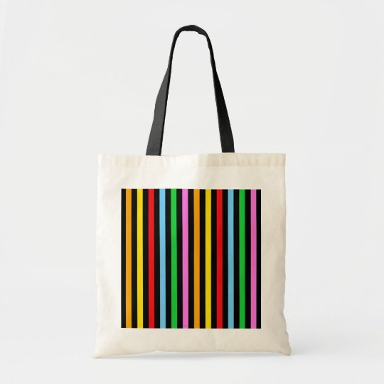 Stripes (Parallel Lines) - Red Blue Green Pink Tote Bag