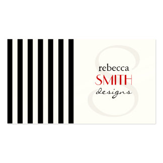 Stripes (Parallel Lines) - White Black Business Card