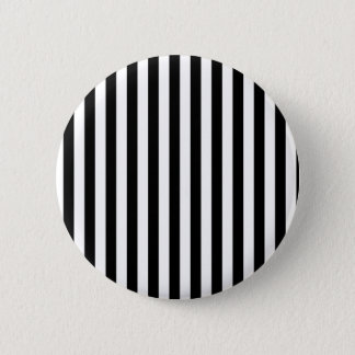 Stripes (Parallel Lines) - White Black Button