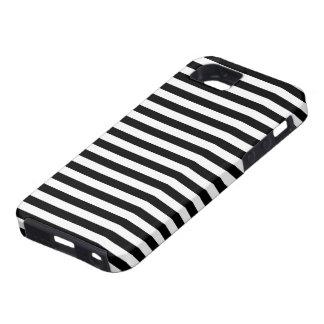 Stripes (Parallel Lines) - White Black iPhone SE/5/5s Case