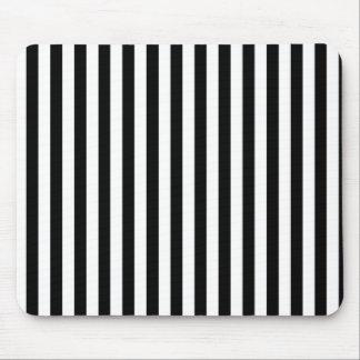 Stripes (Parallel Lines) - White Black Mouse Pad