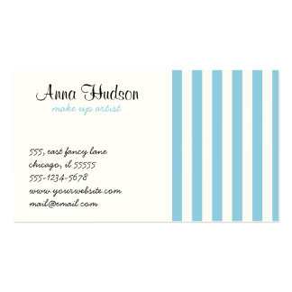 Stripes (Parallel Lines) - White Blue Business Card