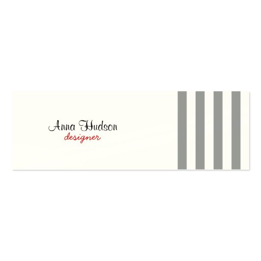 Stripes (Parallel Lines) - White Gray Business Card Templates