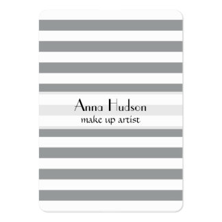 Stripes (Parallel Lines) - White Gray Large Business Card