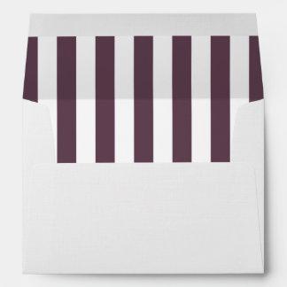 Stripes (Parallel Lines) - White Purple Envelope