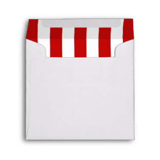 Stripes (Parallel Lines) - White Red Envelope