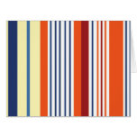 Stripes (Parallel Lines) - Yellow Blue Orange Large Greeting Card