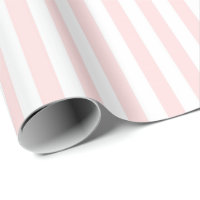 Stripes Pastel Pink Peach White Lines Vip Wrapping Paper