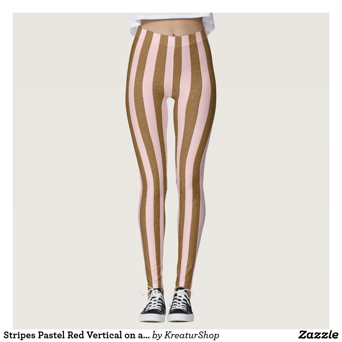 Stripes Pastel Red Vertical on any Color