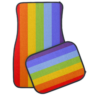 Stripes Pattern chakra / rainbow colored Floor Mat