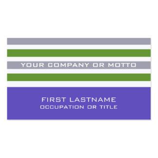 Stripes Pattern custom business cards