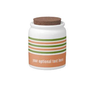 Stripes Pattern custom candy jar