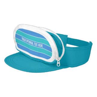 Stripes Pattern custom Cap-Sac visor