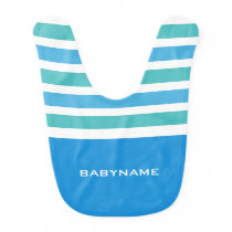 Stripes Pattern custom monogram baby bib