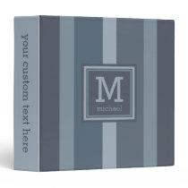 Stripes Pattern custom monogram binders