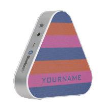 Stripes Pattern custom monogram bluetooth speaker