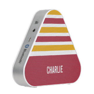 Stripes Pattern custom monogram bluetooth speaker
