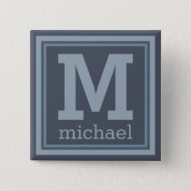 Stripes Pattern custom monogram button
