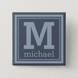 Stripes Pattern custom monogram button