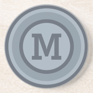 Stripes Pattern custom monogram coaster