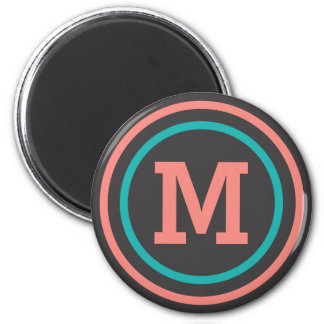 Stripes Pattern custom monogram magnets