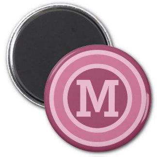 Stripes Pattern custom monogram magnets