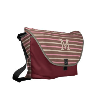Stripes Pattern custom monogram messenger bags