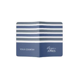 Stripes Pattern custom monogram passport cover Passport Holder