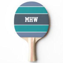 Stripes Pattern custom monogram ping pong paddle