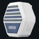 """Stripes Pattern custom monogram speaker<br><div class=""""desc"""">Change the text field to what you want. You can also change the font and its size and color by using the &quot;Customize it&quot; function,  as well as add more text fields if you wish. See my store for more items with,  and color choices of,  this design.</div>"""
