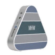 Stripes Pattern custom monogram speakers