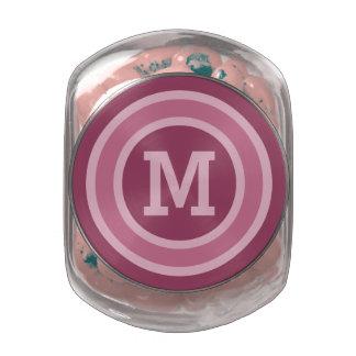 Stripes Pattern custom monogram tins & jars Glass Jars