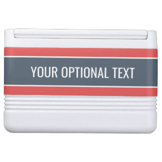 Stripes Pattern custom text coolers Drink Cooler