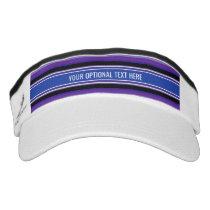 Stripes Pattern custom text visors