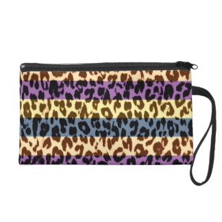 Stripes pattern leopard fur abstract texture wristlet