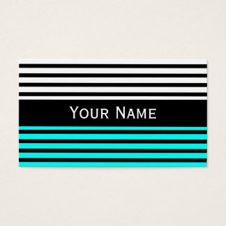 Stripes Pattern narrow black + your backg. & text Business Card
