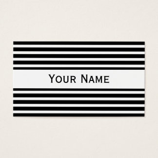 Stripes Pattern narrow white + your backg. & text Business Card