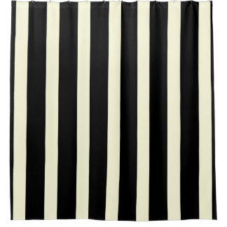 Stripes pattern two tone black cream shower curtainBlack Shower Curtains   Zazzle. Black And Cream Shower Curtain. Home Design Ideas