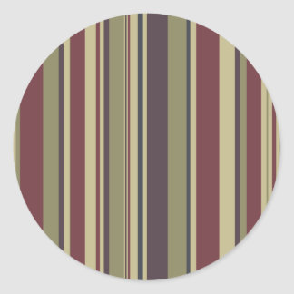 Stripes: Phoenix Color Scheme: Classic Round Sticker