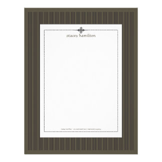 Stripes ~ pin strips + graphite background letterhead