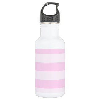 Stripes - Pink and Light Pink 18oz Water Bottle